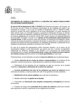 Documento de consulta relativo a la mejora del