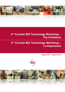 2nd Counter-IED Technology Workshop – The