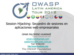 Session Hijacking: Secuestro de sesiones en aplicaciones web