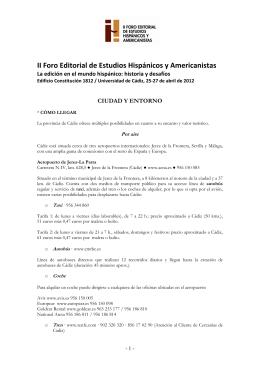 Cadiz como llegar - Universidad de Cádiz