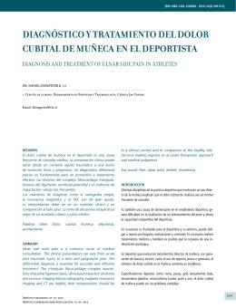 DIAGNóSTICO Y TRATAMIENTO DEL DOLOR CUBITAL DE
