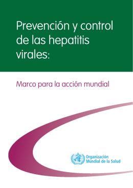 Prevención y control de las hepatitis virales: