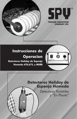 Detectores Holiday de Esponja Humeda Instrucciones de Operacion