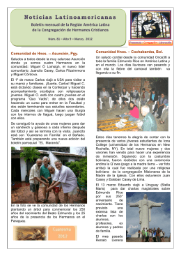 Noticias Latinoamericanas - Edmund Rice Christian Brothers
