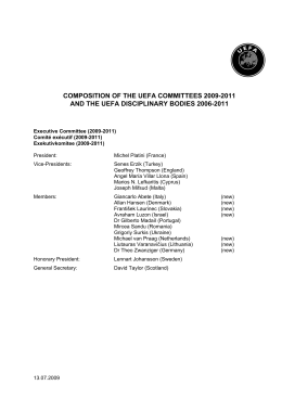 COMPOSITION OF THE UEFA COMMITTEES 1996-98