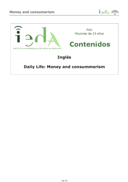 Inglés Daily Life: Money and consummerism