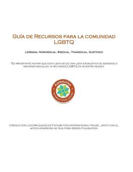 Guía de Recursos para la comunidad LGBTQ