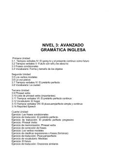 NIVEL 3: AVANZADO GRAMÁTICA INGLESA