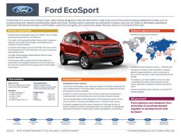 Ford ecosport - Ford Media Center