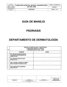 HOS-DER-GU-8 GUIA DE MANEJO PSORIASIS V1