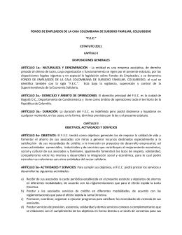fondo de empleados de la caja colombiana de subsidio familiar