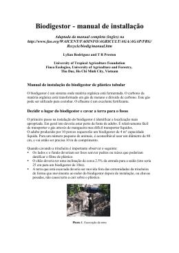 Biodigestor - manual de installação