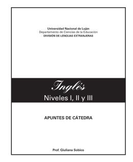 Inglés - Inicio - Universidad Nacional de Luján