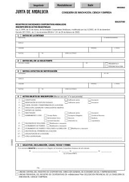 inscripción de registro de cooperativa