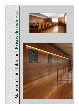 Manual de instalación: Frisos de madera