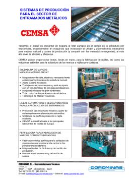 sistemas de producción para el sector de entramados metálicos