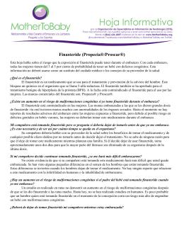 Finasteride (Propecia®/Proscar®)