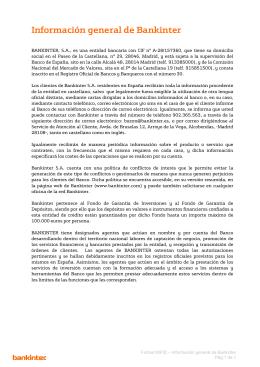 Información general de Bankinter
