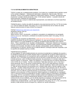 7.5.13.0 ESTABLECIMIENTOS GERIATRICOS 7.5.13.1 Locales de