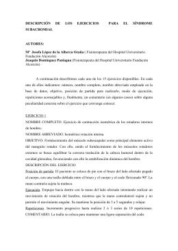 DESCRIPCIÓN DE LOS EJERCICIOS