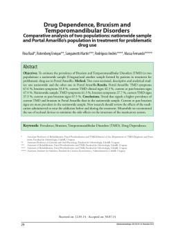 Drug Dependence, Bruxism and Temporomandibular Disorders