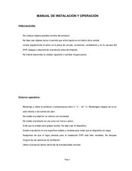 MANUAL DE INSTALACIÓN Y OPERACIÓN