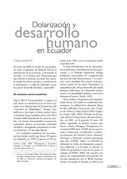 Dolarización y desarrollo humano en Ecuador