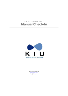 Manual Check-In - Kiu System Solutions