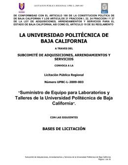 BASES UPBC-L-2009