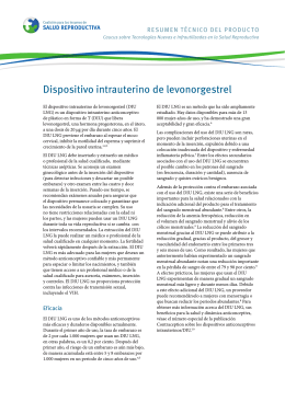 Dispositivo intrauterino de levonorgestrel