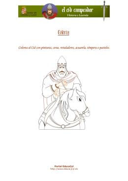 Colorea al Cid con pinturas, ceras, rotuladores, acuarela, témpera o