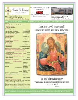 APRIL/ABRIL 25, 2010 - Saint Theresa Catholic Church