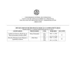 Seminarios y Monograficos 2015-II