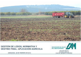 Gestión de lodos, normativa y destino final: aplicación agrícola
