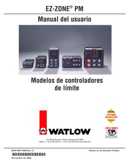 Manual del usuario EZ-ZONE® PM Modelos de