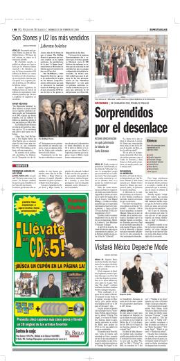 Visitará México Depeche Mode