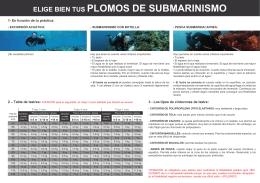 ELIGE BIEN TUS PLOMOS DE SUBMARINISMO 2