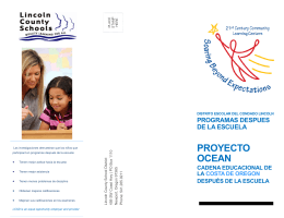After School Program Brochure - en Espanol - 2013-14