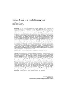Formas de vida en la etnobotánica aymara - Ibero