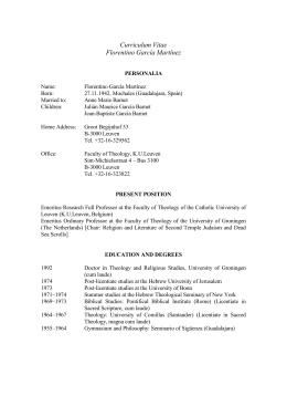Curriculum - Asociación Bíblica Española