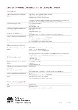 Guía de Contacto Oficina Estatal de Cobro de Deudas