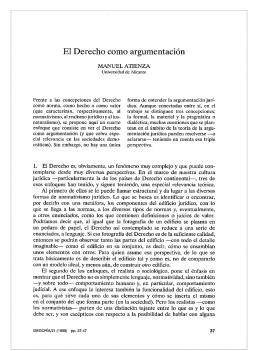 El Derecho como argumentación - Isegoría
