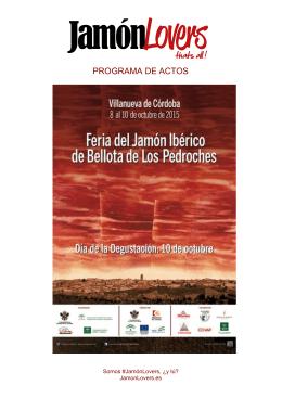 Programa Feria Jamon Villanueva de Córdoba