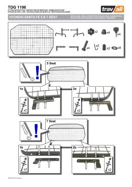 TDG1196 HYUNDAI SANTA FE 5 & 7 SEAT
