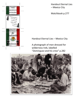 Handout Eternal Lies – Mexico City Matchbook p.277 Handout