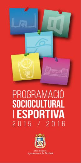 Programació SocioCultural i Esportiva 2015/16