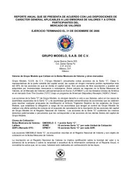 GRUPO MODELO, S.A.B. DE C.V.