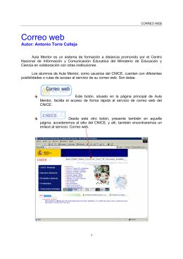 Correo web - Aula Mentor