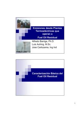 Emisiones desde Plantas Termoeléctricas que operan a Fuel Oil