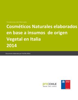 2014 Cosméticos Naturales elaborados en base a